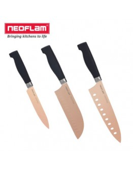 Neoflam 钛镀抗菌刀3件组