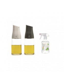 ZUUTii自動開蓋油醋瓶 2入 + 小黃瓜植萃去油清潔劑-400ml 推荐组合