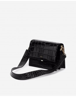 JWPEI Mini Flap Bag - Black Croc