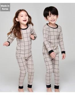 韓國製作睡衣 - Check Brown【預計11月尾發貨】