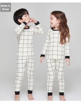 韓國製作睡衣 - Check Cream【預計11月尾發貨】
