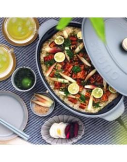 BRUNO 橢圓電熱鍋 Oval Hot Plate (平底烤盘,章鱼烧烤盘和白色深锅)【11月尾发货】