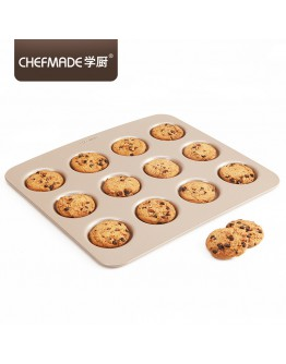 chefmade 12 cup cookies tray12连曲奇饼干模 WK9405 【预购11月头发货】