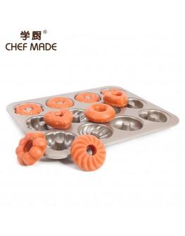 chefmade 2 cup non-stick donut pan 12连甜甜圈模 【預購11月頭發貨】