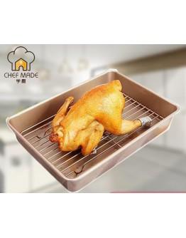 chefmade 13'' Roaster Pan With Flat Rack 13寸不粘加深烤盘送烤架 WK9041 【預計11月頭發貨】