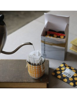 Freshly roasted coffee driver drip bag