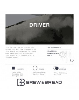 Freshly roasted coffee driver whole bean 250g