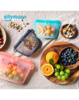 SILLYMANN 700ml  3入一組 (橘色,藍色,黑色)矽膠食品袋